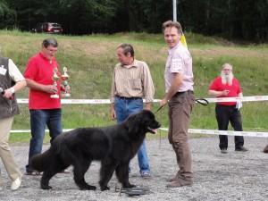 Dakotah from Blair Witch Garden zur Thüringensiegerschau in Neustadt (Orla) Juni 2011 Jugend-Klasse V1